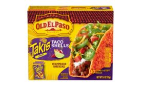Old El Paso Takis Fuego-inspired Hot Chili Pepper and Lime-Flavored Stand 'N Stuff Taco Shells