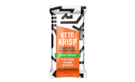 Keto Krisp expands plant-based line with launch of Peanut Butter Chocolate Chunk bars