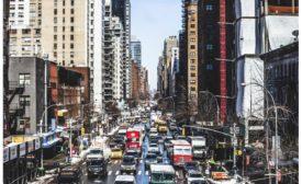 Congested urban street
