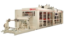GN800 form/cut/stack thermoformer from GN Thermoforming Equipment