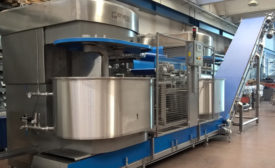 Updated dough mixers add capabilities to improve snack and bakery production