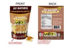 Udi's Gluten Free Au Naturel Granola