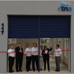 Ribbon cutting at tna's new Sao Paulo office