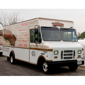 Alpha Baking Co.'s 2013 ROUSH CleanTech Ford E-450 bread delivery trucks