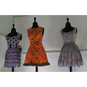 2013 Sweets & Snacks Expo Candy Wrapper Dress Display
