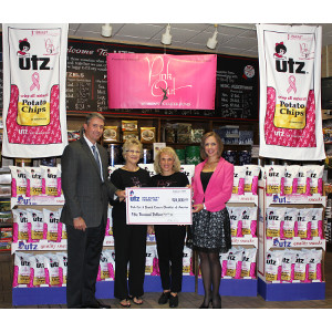 Utz Quality Foods makes donation to breast cancer organizations.