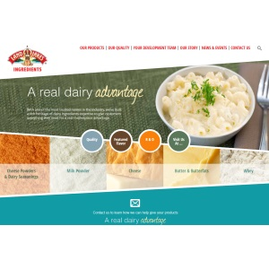 Land O'Lakes Ingredients Website Home Page