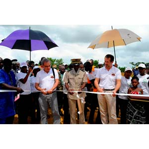Opening ceremony at Puratos' Ivory Coast cocoa plant