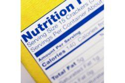 Nutrition Label Closeup