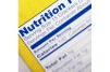 Nutrition Label Closeup