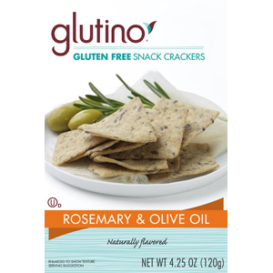 Glutino Rosemary and Olive Oil Snack Crackers