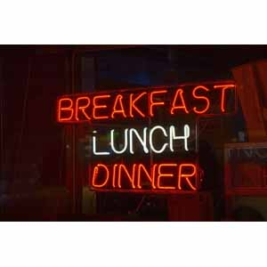 Breakfast-Lunch-Dinner Neon Sign