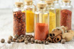 Spice-filled jars