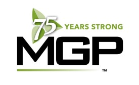 MGP Ingredients' 75th anniversary logo