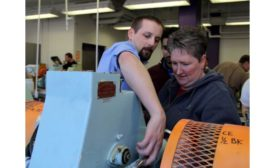 People in milling course