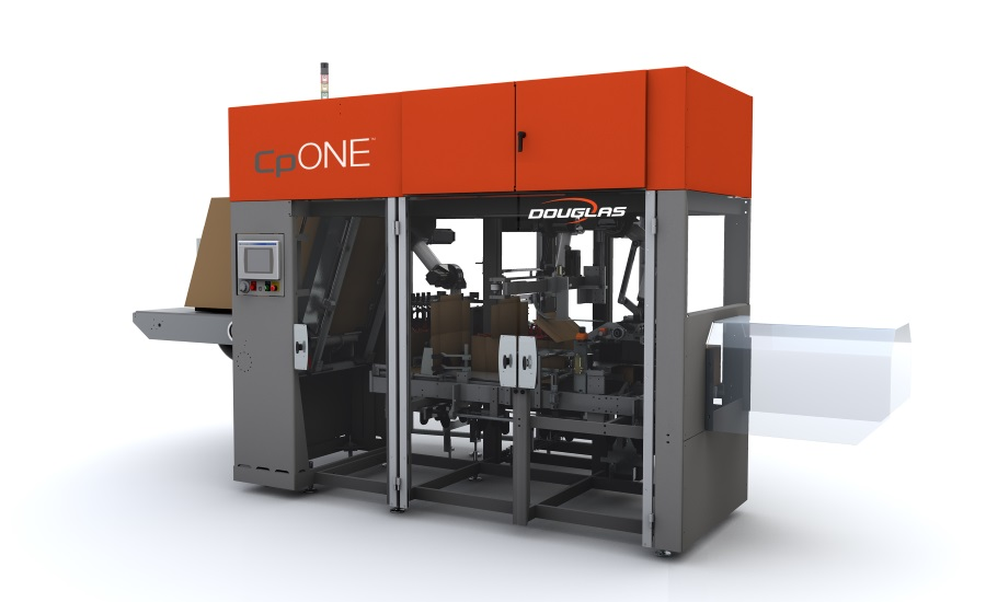Douglas Machine CpONE intermittent motion case packer