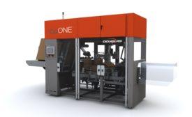 Douglas Machine CpONE intermittent motion case packer