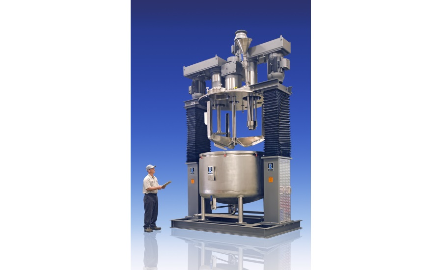 ROSS Triple Shaft Mixer with Powder Induction Manifold
