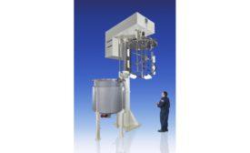 ROSS 1,000-gallon pivoting Triple Shaft Mixer