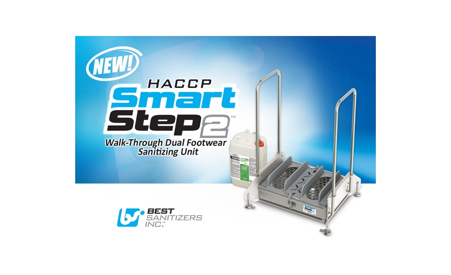 Best Sanitizers, Inc. Announces New HACCP SmartStep2 Walk-Through Dual Footwear Sanitizing Unit.