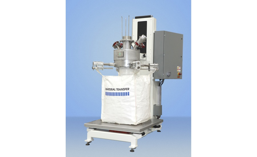 Material Transfer bulk bag filler with FDA white finish and food grade contact surfaces - new design