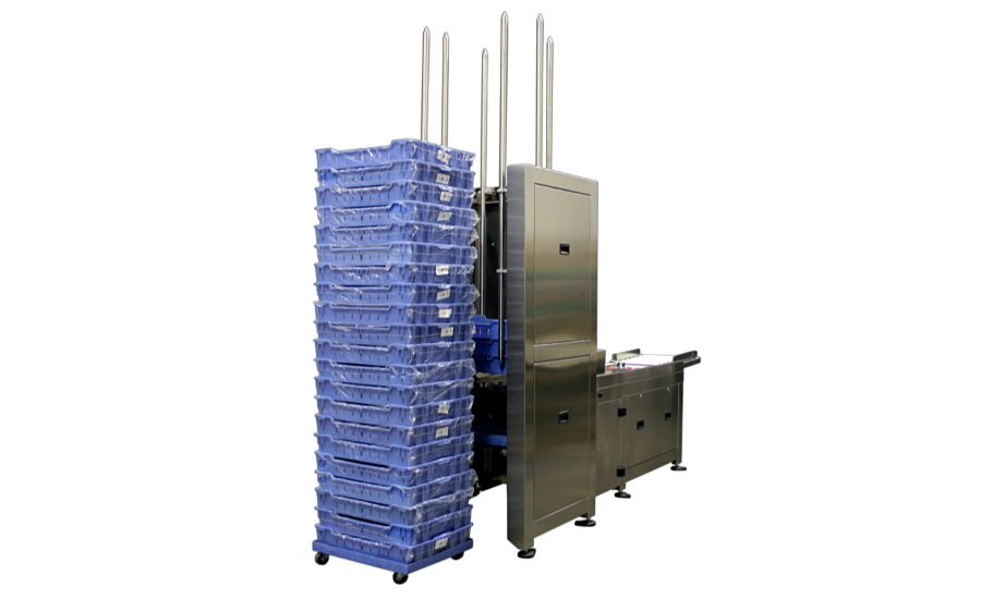 Apex Motion Control automated tray stacking system