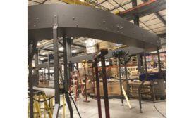 Multi-Conveyor elevated conveyor conserves critical floor space