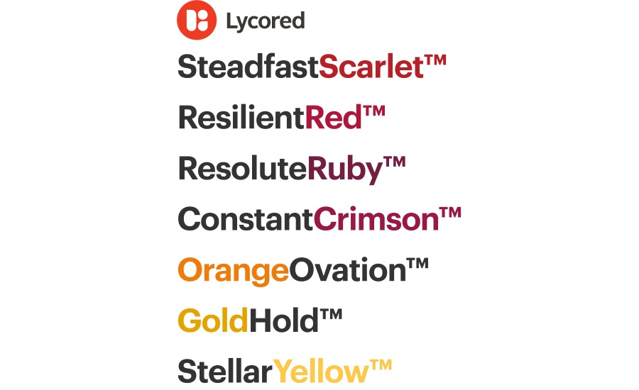 Lycored new color names
