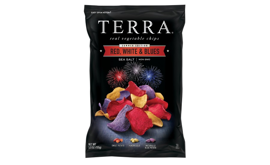 Terra Red, White and Blues veggie chips