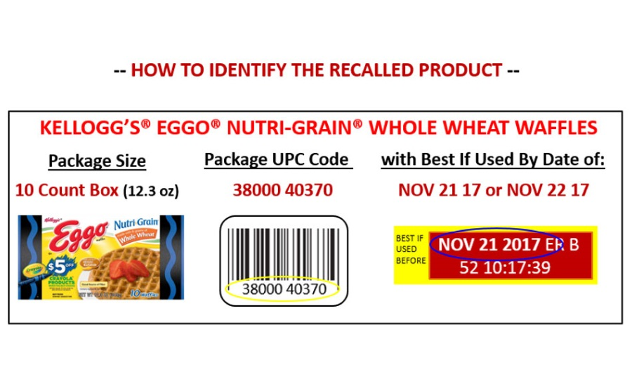 voluntarily recalls Eggo Nutri-Grain