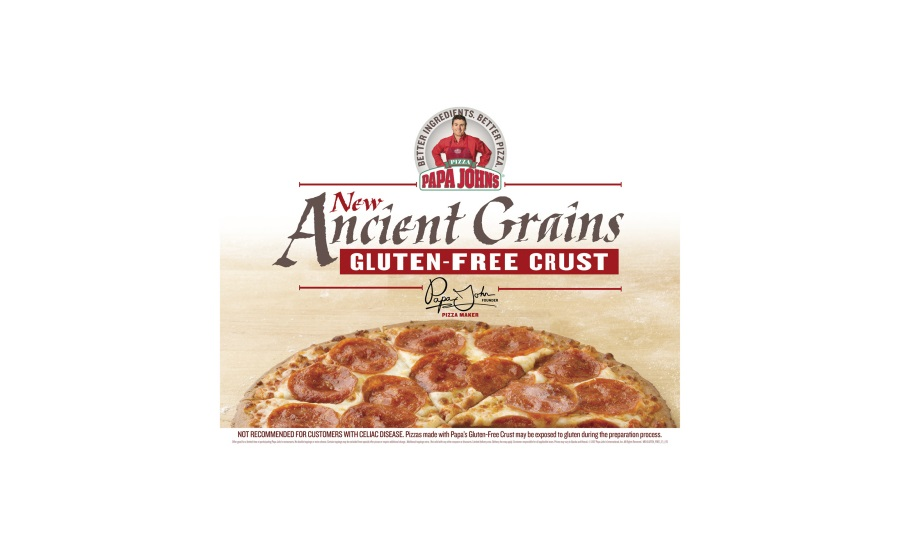 Papa Johns ancient grains gluten-free pizza
