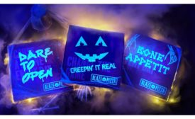Blaze Pizza black light boxes for Halloween