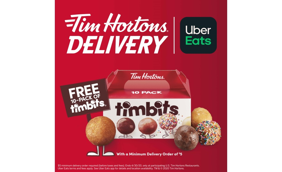 Tim Hortons U.S. partners with Uber Eats for first-ever delivery option