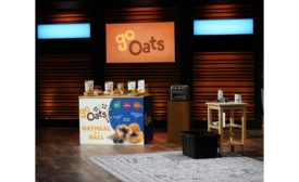 Young entrepreneur pitches healthy all-natural oatmeal bites breakfast food, GoOats