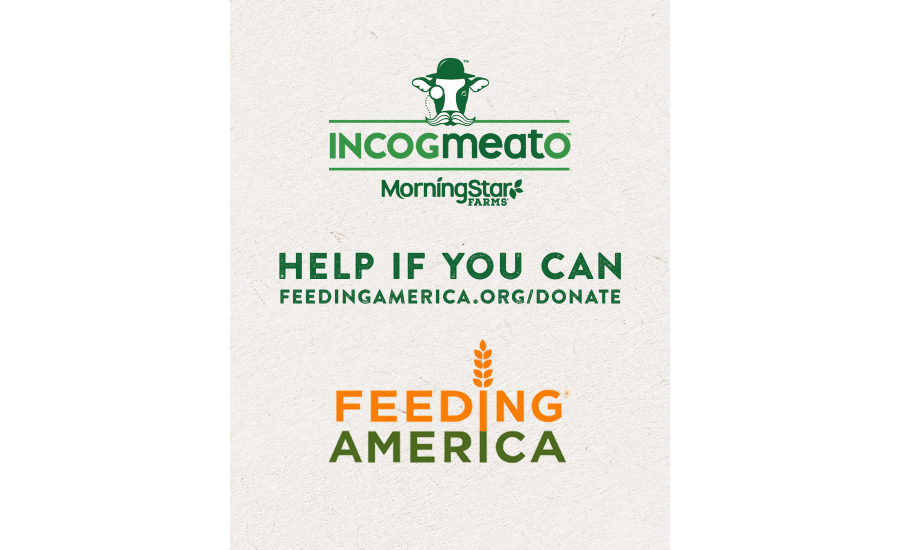 Incogmeato by MorningStar Farms seeks to help address protein gap by donating $1M worth of plant-based protein products to Feeding America