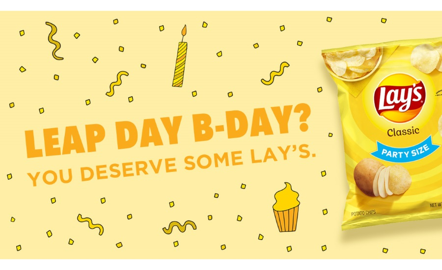 Lay's chips in on Leap Day birthday celebrations with free potato chips for Leaplings