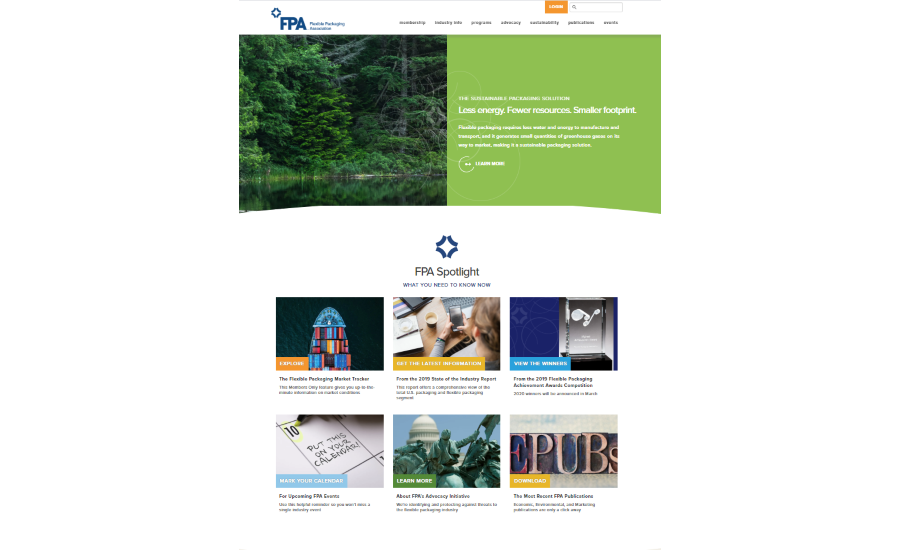 Flexible Packaging Association launches new website