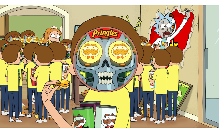 Pringles® Successfully Traps Interdimensional Traveling Duo Rick And Morty In 2020 Big Game Ad