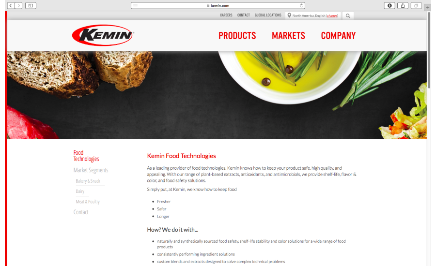 Kemin Food Technologies new website