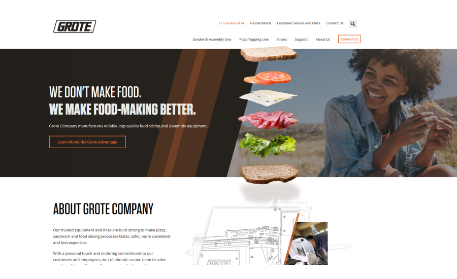 Grote Company new website