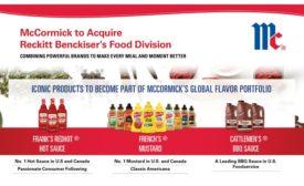 McCormick acquires Reckitt Benckiser food division