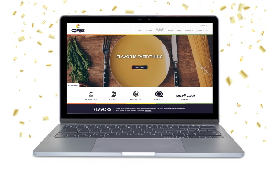 Comax Flavors new website