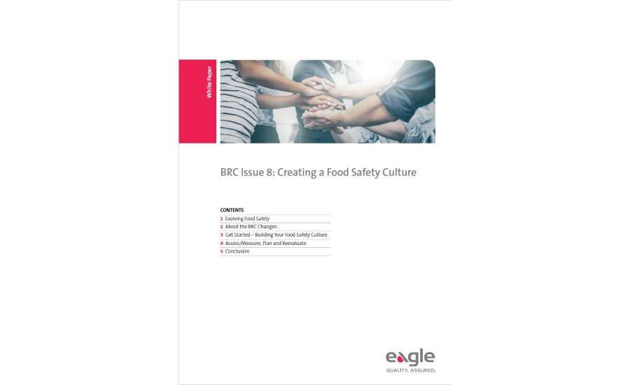 Eagle Product Inspection Guide to Building a Food Safety Culture