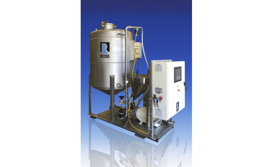 ROSS Skid-Mounted High Shear Powder Induction & Mixing System with Recirculation Tank