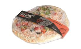 Unconventional labelling solution for pizza and other flat food products, from MULTI-VAC