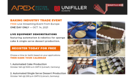 Apex Motion Control to host online baking industry trade event on October 14, 2021